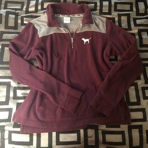 Pink by Victoria's Secret burgundy sweater